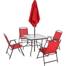Walmart Patio Umbrella Red by Mainstays Albany Lane 6 Piece Folding Dining Set Multiple Colors