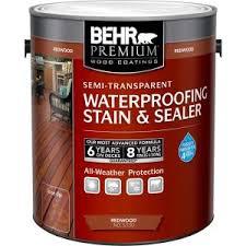 behr premium 1 gal redwood semi transparent waterproofing stain