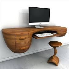 Modern Style Computer Desk Office Glass White Home Furniture
