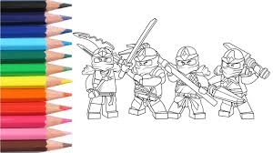 Lego Ninjago Coloring Pages For Kids Video On YouTube