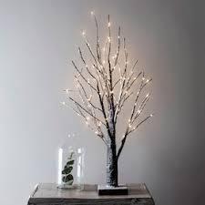 65cm Snowy Pre Lit Battery Twig Tree