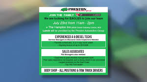 Preston Automotive Group Holds Largest Job Fair In Maryland And ... Henderson Trucking Jobs For Otr Long Haul Truck Drivers Welcome To United States Driving School Delaware Cdl Local In De Latest Types Of Technology Any Driver Can Purchase Military Programs Roehl Transport Roehljobs Steve Keeley On Twitter Friend Tells Fox29 News Father42 Lost Smith Solomon Lifetime Job Placement Assistance Your Career Bl Transportation Logistics A Apply With New York Ny Experienced Testimonials