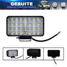 100 Truck Spotlights 2PCS GERUITE 96W LED Spotlight Car Rectang Lights For SUV