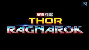 Thor Ragnarok Hulk Poster Logo Style