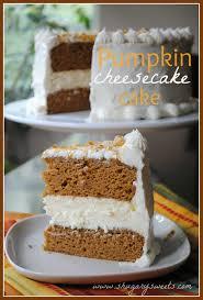 Pumpkin Cheesecake Cake Shugary Sweets