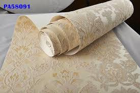 italienische vintage gold beige samt beflockung damast tapete rolle vintage schlafzimmer decor