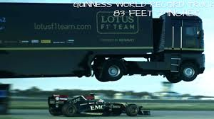 Watch A Full Semi-Truck Jump Over A Formula 1 Race Car — GeekTyrant