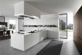 cuisine moderne design avec ilot idée cuisine avec îlot perspective mouvement lumière