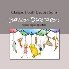 Winnie The Pooh Nursery Decor Ireland by Classic Winnie The Pooh Balloon Decoration Instant Digital