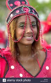 West Indies Guadeloupe Carnival People Masks Costume Disguise Life Scenes