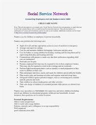 Free Nanny Job Description Resume Awesome Sample Hha