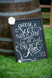 DIY Chalkboard Ceremony Welcome Sign