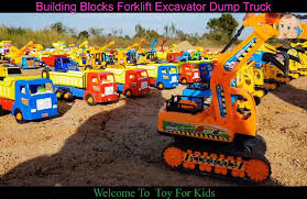 100 Toy Farm Trucks And Trailers Construction S For Kids Building Blocks Forklift Excavator Dump Truck For Kids