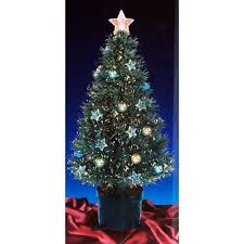 Amazon 2FT GREEN FIBRE OPTIC CHRISTMAS TREE WITH STARS AND BAUBLES By Gift Centre Home Kitchen
