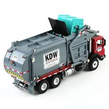 100 Diecast Garbage Trucks New 124 Scale Material Transporter KDW Model