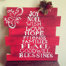 Holiday Christmas Themed Hand Painted Pallet Art BostonRusticsorg