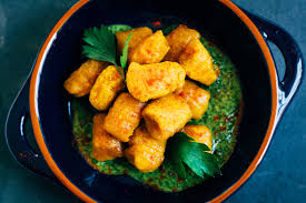 Good Sauce For Pumpkin Gnocchi by Harissa Spiced Pumpkin Gnocchi W Parsley And Mint Pesto Well