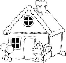 Click To See Printable Version Of Christmas Gingerbread House Coloring Page