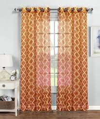 Brylane Home Grommet Curtains by Buy Best Orange Curtains U2013 Ease Bedding With Style