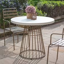 Outdoor Round Metal Table With White Concrete Top Brompton Metal Garden Rectangular Set Fniture Compare 56 Bistro Black Wrought Iron Cafe Table And Chairs Pana Outdoors With 2 Pcs Cast Alinium Tulip White Vintage Patio Ding Buy Tables Chairsmetal Gardenfniture Italian Terrace Fniture Archives John Lewis Partners Ala Mesh 6seater And Bronze Home Hartman Outdoor Products Uk Our Pick Of The Best Ideal Royal River Oak 7piece Padded Sling Darwin Metal 6 Seat Garden Ding Set