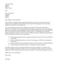 Administrative assistant cover letter no experience for with