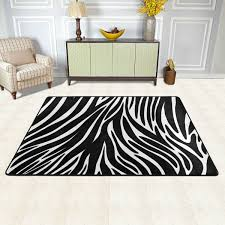 LORVIES Zebra Textures Area Rug Carpet NonSlip Floor Mat Doormats
