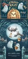 Halloween Date 2014 Nz by Spooky Night U2022 Halloween Set Illustrations Creative Market