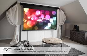 Drop Ceiling Mount Projector Screen by Spectrum Series Electric Screens Wall Ceiling Elite Screens