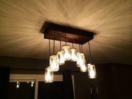 chandelier jar lights for kitchen wood jar chandelier