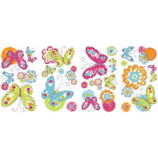 Butterfly Wall Decor Target by Kids Wall Decals Walmart Com Disney Princess Royal Debut Peel And