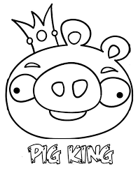 Angry Birds Space The Pig King Coloring Pages