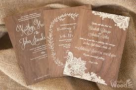 Printed Wood Veneer Cards Invitation Samples
