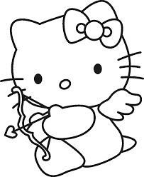 Hello Kitty Happy Halloween Coloring Pages by Valentines Coloring Pages Free Printable Coloring Page