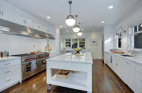 View In Gallery Giving The Industrial Idea Of Kitchen Islands On Wheels A Beautiful Modern Makeover