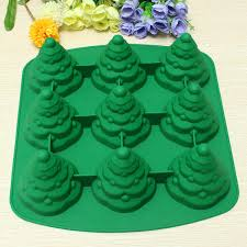 3D Christmas Tree Cake Mould Silicone Cookie Chocolate Baking Mold 88101 SKU167245 1
