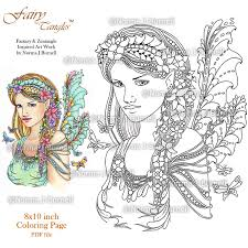 Dragon And Fairy Coloring Pages For Adults