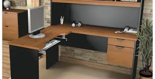 Altra Chadwick Collection L Shaped Office Desk by L Shaped Office Desk With Hutch L Shaped Desk In Salt Oak L