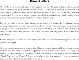 Download Demand Letter Example for Free TidyForm