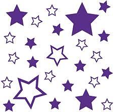 kleb drauf 25 sterne lila glänzend wandtattoo wandaufkleber wandsticker aufkleber sticker wohnzimmer schlafzimmer kinderzimmer küche bad