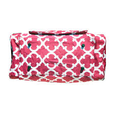 decorating pink quatrefoil damask cute duffle bags for enchanting