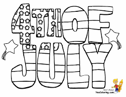 Patriotic 4th Of July Coloring Pages Throughout For Fourth