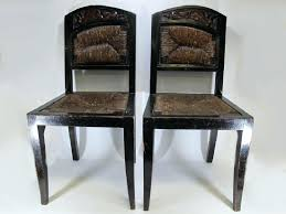 Antique Spanish Dining Chairs Leather Colonial Furniture Set Of For ...