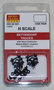 98 N Scale Trucks UPC 695140002917 Micro Trains 003 02 021 Bettendorf 1000