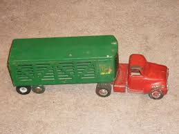 Vintage 1950's Structo Farms Cattle Hauler Steel Toy Truck Trailer ... 1950s Structo Hydraulic Toy Dump Truck Vintage Nice Yellow Toy Truckgreen Trailer Yellow Steam Shovel Farms Cattle Hauler Steel Trailer Light 992 Vintage Grnuploweredga Structo Toys Freight Hauler Truck Fire Engine Ardiafm Hap Moore Antiques Auctions Lot Of 2 Machinery Steam Shovel Pressed Steel Hydraulic Dumper 401 Red Cab Yellow Toys R Us Pressed