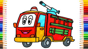 100 How To Draw A Fire Truck For Kids To Draw Ing And Painting