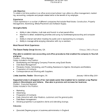 Real Estate Resume Examples Magnificent Full Time Agent Sample With Objective And