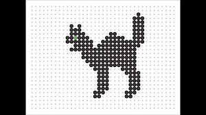 Halloween Perler Bead Patterns by Hama Bead Black Cat Halloween Series 2 8 Youtube