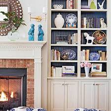 Living Room With Fireplace And Bookshelves by Fireplace Bookshelves Design Ideas