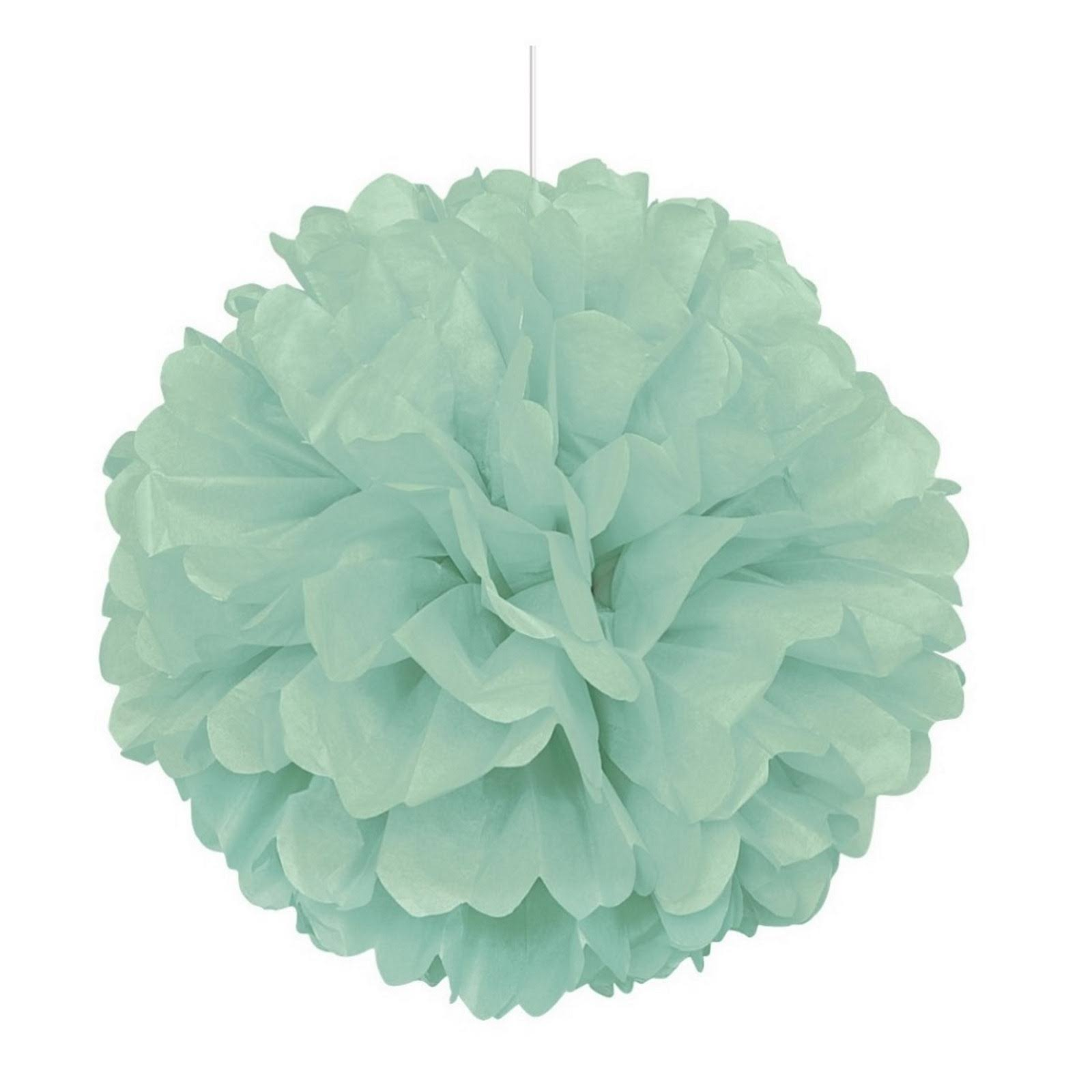 Unique Industries Tissue Paper Pom Pom - Mint Green, 16""