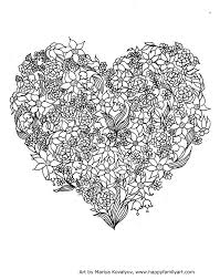 Adult Colouring Hearts Love Zenta Inspiration Graphic Valentines Day Coloring Pages For Adults